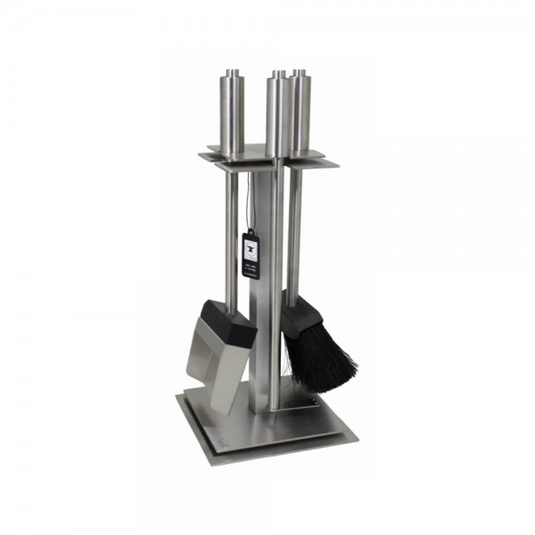 Red Anvil MiniTower ToolBar-3 Kaminbesteck (3-teilig), Edelstahlgestell, Griffe Edelstahl