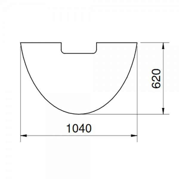CERA Design Glasvorlegeplatte, 1040 x 620 mm, Kaminofen Conte+ & mini