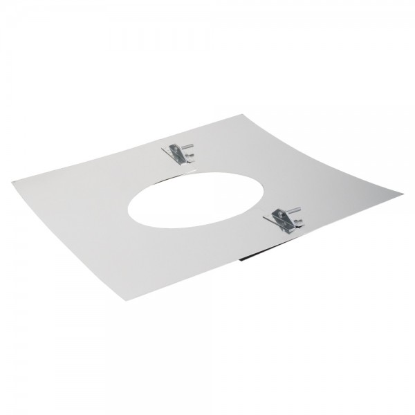 Deckenblende 2-teilig, 500 x 500 mm, 20° - 35°, Edelstahl, ø 130 mm (190 mm)