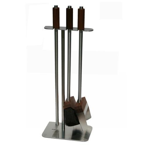 Red Anvil HiBoom ToolBar-3 Kaminbesteck (3-teilig), Edelstahlgestell, Griffe und Werkzeugköpfe Nussb