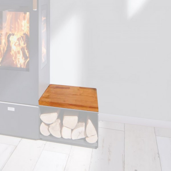 Cera Design Holzabdeckung natur, Breite 44 x 44 cm, Kaminofen Santos und Santos plus