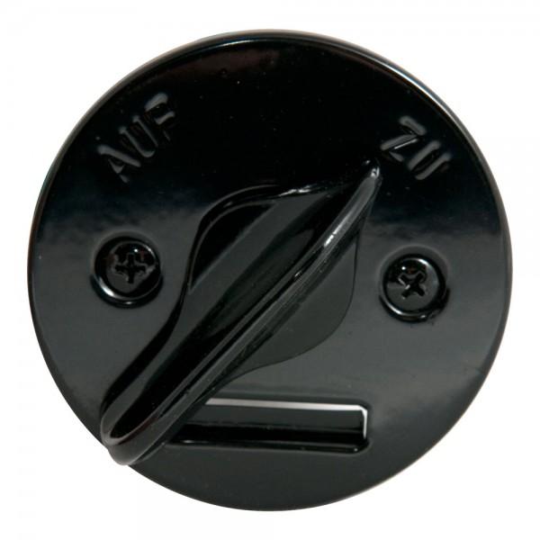 Stellknopf, DN 65 mm, Schwarz für Zuluftklappe