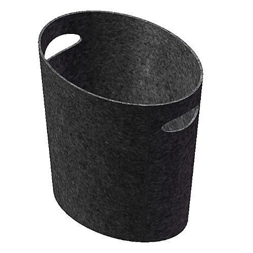 Lienbacher Filzkorb, schwarz, Oval