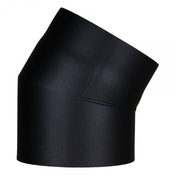 Ofenrohr-Bogen 30°, doppelwandig mit Dämmung, System Primus, 130 mm