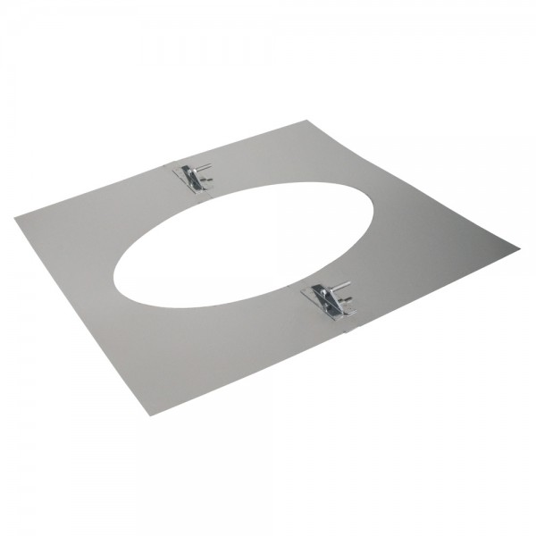 Deckenblende 2-teilig, 500 x 500 mm, 35° - 50°, Edelstahl, ø 150 mm (210 mm)