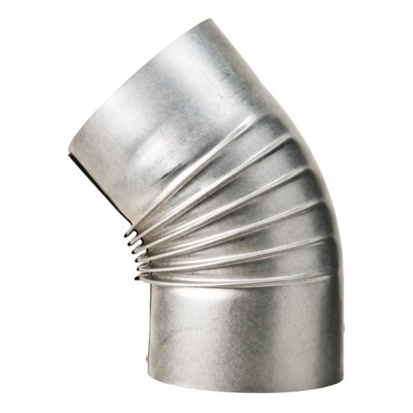 Bogen, gerippt, 45°, ohne Reinigungs-Öffnung, ø 130 mm