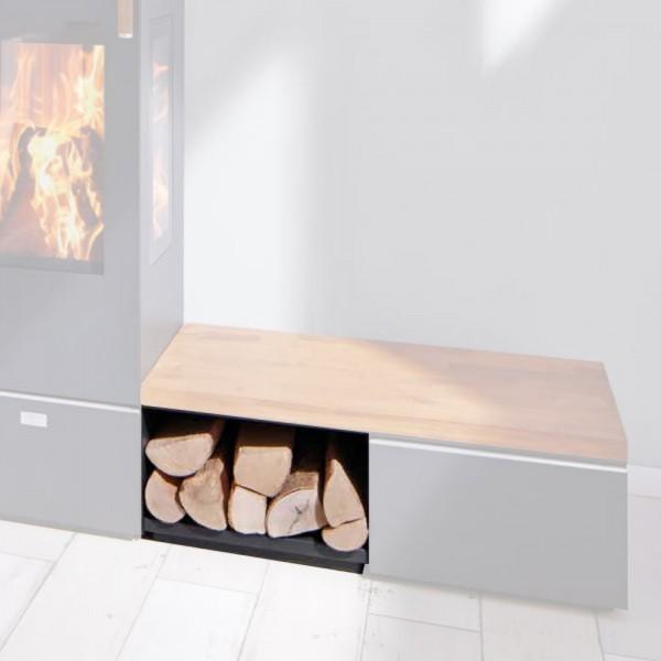Cera Design Holzlagerfach offen, Breite 44 cm, Kaminofen Santos und Santos plus