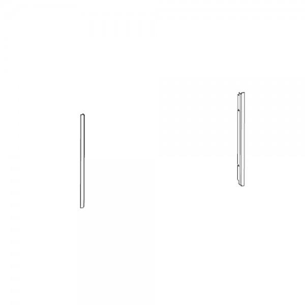 Leda seitl. Blenden, pulverbeschichtet, 2 Stück, schwarz, flach (SERA F/ DS/ ES/ PS/ US)