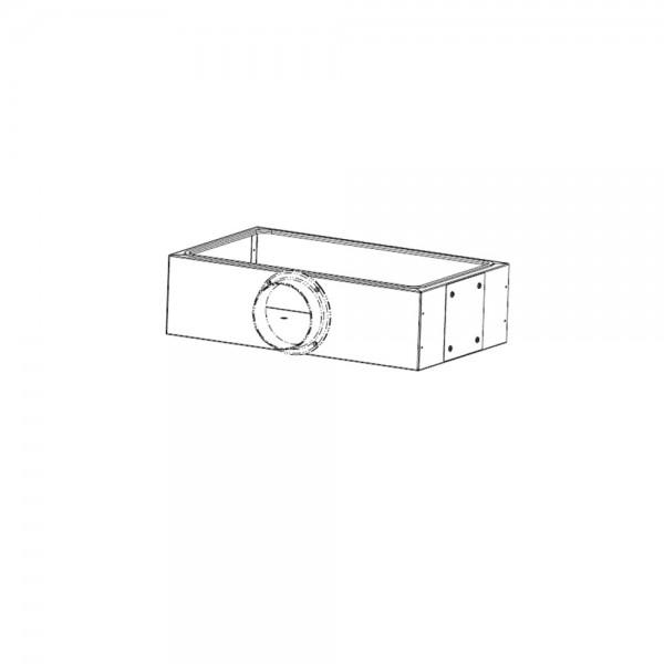 Leda Luftanschlusskasten, schwarz lackiert, für den Außenluftanschluss nach hinten, seitl. oder vorn