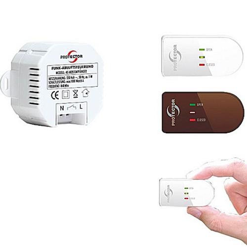 AS-6020.3 Atek Einbau-Funk-Abluftsteuerung, Fensterkontaktschalter für Dunstabzugshaube
