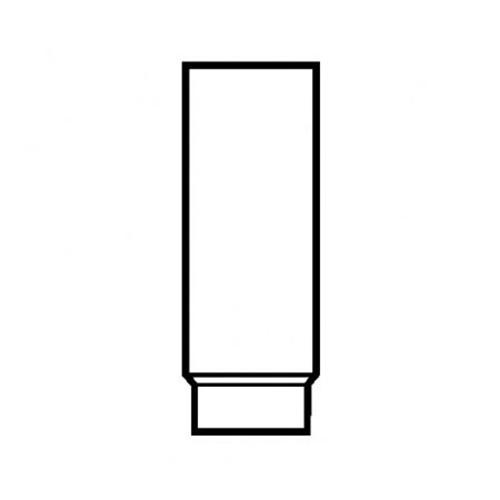 Ofenrohr, stahlblank, zylindrisch, eingezogen, 150/750 mm