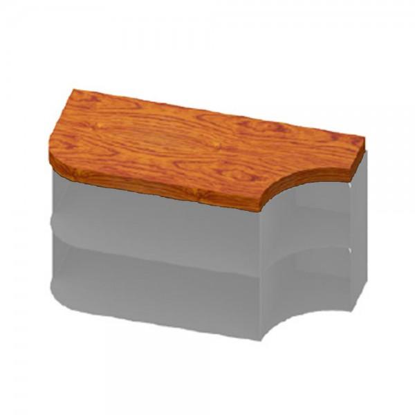 CERA Design Holzauflage rund, braun gebeizt für Anbauelement Kaminofen faro