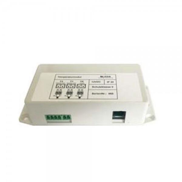 Temperaturmodul inkl. 3 Sensoren mit 3 m Leitung und Busweiche, B137 x H62 x T32 mm