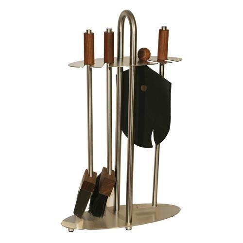 Red Anvil Eclipse ToolBar-4 Kaminbesteck (4-teilig), Edelstahlgestell, Griffe und Werkzeugköpfe Nuss