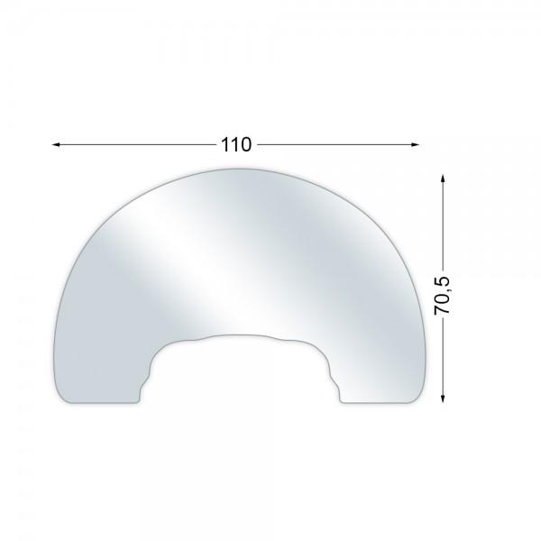 AUSTROFLAMM Glasbodenplatte für Kaminofen Clou Xtra