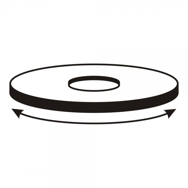CERA Design Drehteller, schwarz pulverbeschichtet, inkl, drehbarem Stutzen, Kaminofen faro