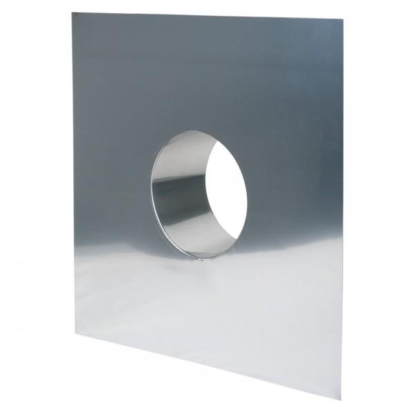 Schornstein, Wandblende 650 x 650 mm, Edelstahl, ø 180 mm (240 mm)