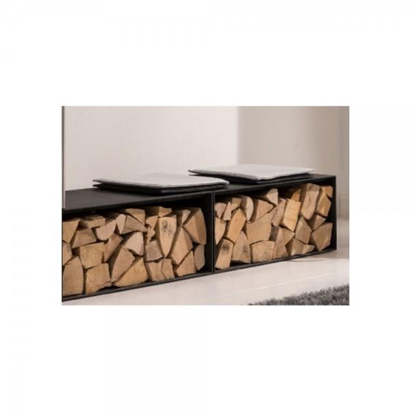 wodtke Block Box black als Holzlege oder Sitzbank