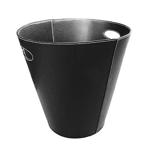 Lienbacher Kunstlederkorb, schwarz, mit Grifflöchern