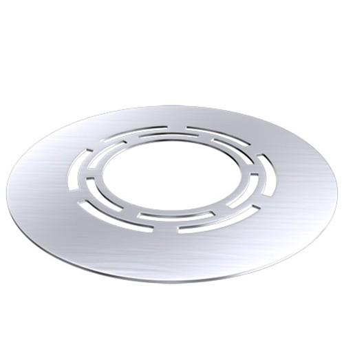 Deckenblende mit Hinterlüftung (Breite 250 mm), Edelstahl, ø 130 mm (196mm)