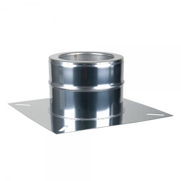 Fußteil ohne Einschub doppelwandig 200 mm für Schornsteinverlängerung