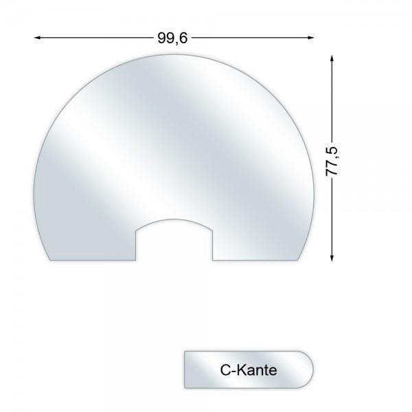 CERA Design Glasvorlegeplatte, 996 x 775 mm, Kaminofen Rondotherm