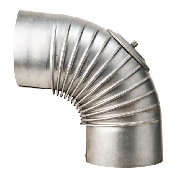Bogen, gerippt, 90°, mit Reinigungs-Öffnung, ø 150 mm