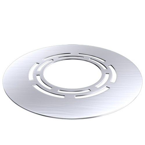 Deckenblende mit Hinterlüftung, 45°, Edelstahl, für ø 150 mm (210 mm)
