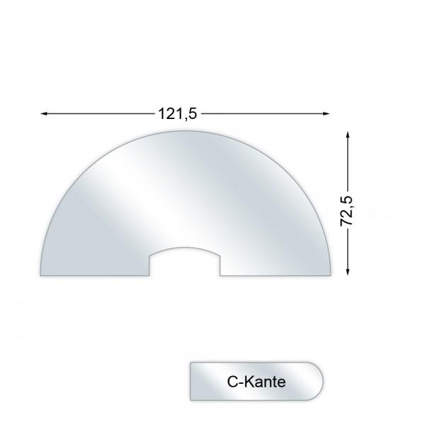 CERA Design Glasvorlegeplatte, 1510 x 755 mm, Kaminofen Scusi und Scusi+