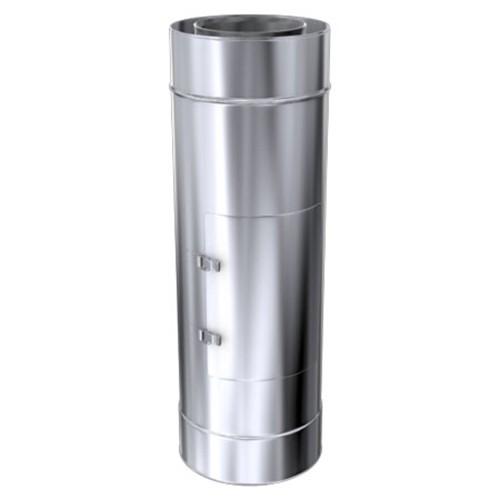 Schornstein, Rohr mit Revisionsöffnung, Edelstahl, ø 100 mm (160 mm)