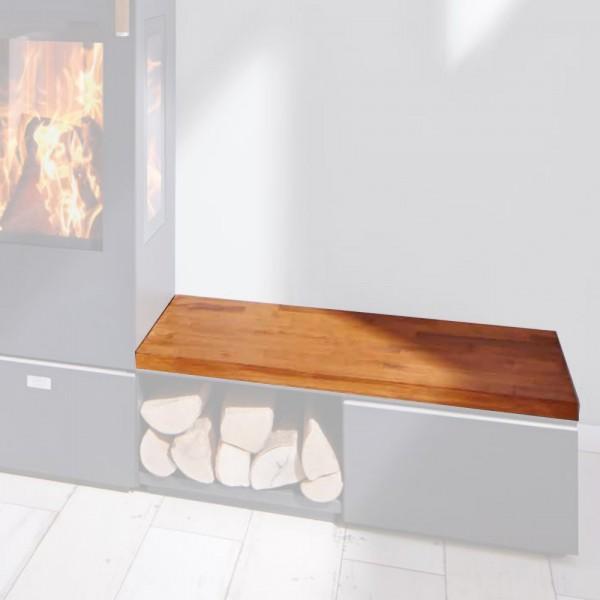 Cera Design Holzabdeckung natur, Breite 44 x 88 cm, Kaminofen Santos und Santos plus
