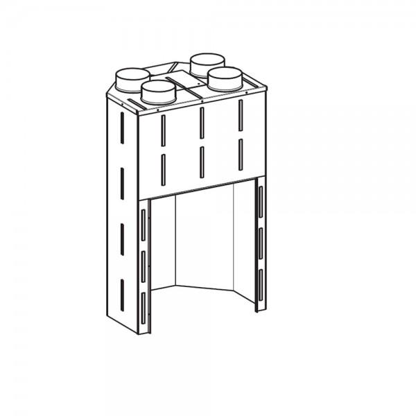 Konvektionsmantel Leda LAVA D mit 4 Zuluftstutzen Ø 150 mm