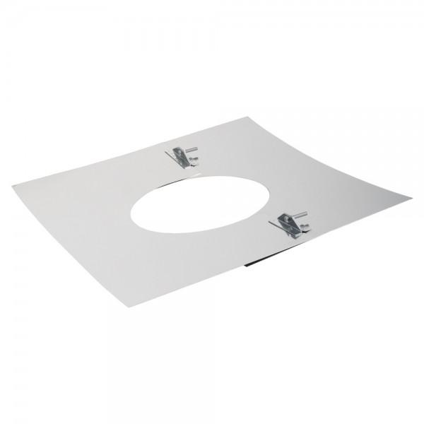 Deckenblende 2-teilig, 500 x 500 mm, 20° - 35°, Edelstahl ø 150 mm (210 mm)