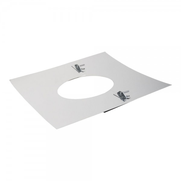 Deckenblende 2-teilig, 500 x 500 mm, 5° - 20°, Edelstahl, ø 130 mm (190 mm)