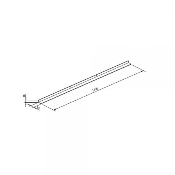 Tragrahmen (SERA 55/ 78 F/ DS) Länge 1390 mm, Auflage 50 mm