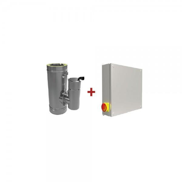 Feinstaubpartikelabscheider Airjekt 1 Outdoor DW mit Wetterschutzkasten zur Montage im doppelwandige