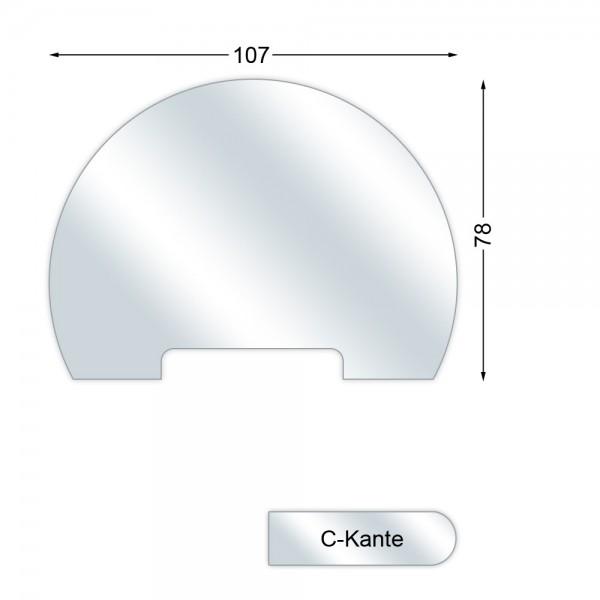 CERA Design Glasvorlegeplatte, Kaminofen Divino Due und Divino Tre