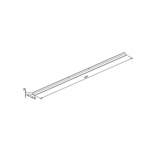 Leda Tragrahmen (SERA 100 F/ DS) Länge 1850 mm, Auflage 50 mm